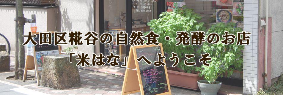 自然食・発酵のお店「米はな」